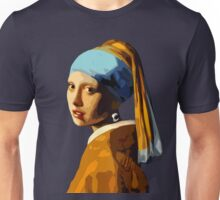 A Polygon Girl with an Earring Unisex T-Shirt