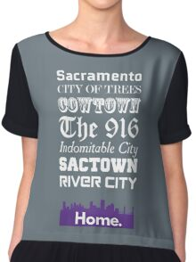 Sacramento Is My Home. Chiffon Top