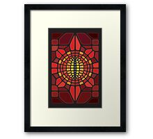 Eye of Sauron II Voronoi Framed Print