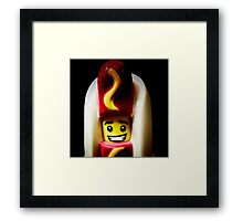 A weiner a day keeps the troubles away Framed Print