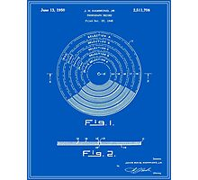 Phonograph Record Patent - Blueprint Photographic Print