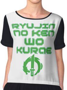 Ryujin no ken wa kurae! Chiffon Top