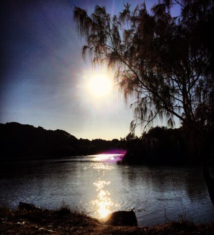 Sunrise on the River Glint Sticker