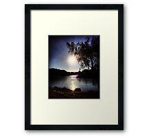 Sunrise on the River Glint Framed Print