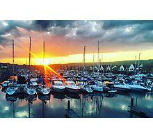 Port Solent Sunset Photographic Print