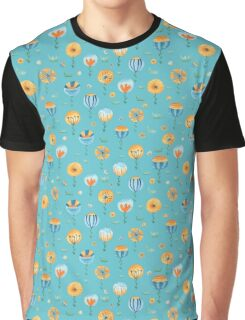 flowers in turquoise Graphic T-Shirt
