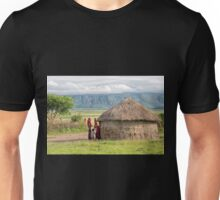 Maasai People and traditional hut Unisex T-Shirt