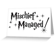 Harry Potter Mischief Managed Greeting Card