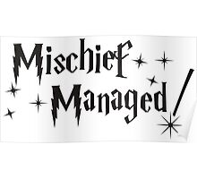 Harry Potter Mischief Managed Poster