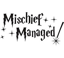 Harry Potter Mischief Managed Photographic Print