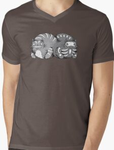 Quantum Cat Curiosity Mens V-Neck T-Shirt