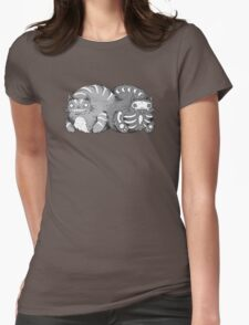 Quantum Cat Curiosity Womens Fitted T-Shirt