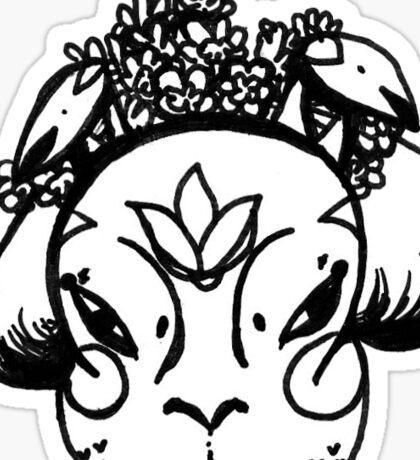 Alma de Kahlo b&w Sticker