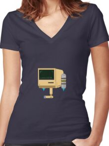 Computer Guy Women's Fitted V-Neck T-Shirt