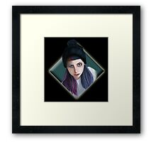 punky girl Framed Print