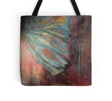 Fractured Butterfly Wing Blue to Orange Tote Bag