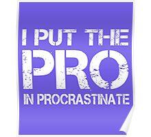 I put the Pro in Procrastinate Poster
