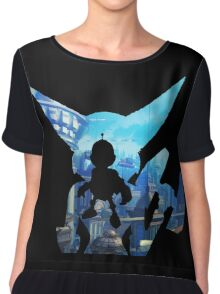 Ratchet and Clank with Wrench in Metropolis Chiffon Top