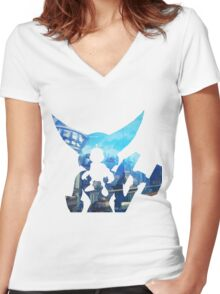 Ratchet and Clank with Wrench in Metropolis Women's Fitted V-Neck T-Shirt