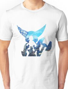 Ratchet and Clank with Wrench in Metropolis Unisex T-Shirt