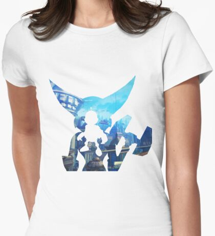 Ratchet and Clank with Wrench in Metropolis Womens Fitted T-Shirt