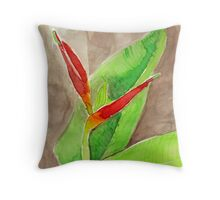 Watercolour - Bird of Paradise - Eumundi Throw Pillow