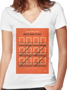 No387 My West Side Story minimal movie poster Women's Fitted V-Neck T-Shirt