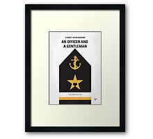 No388 My An Officer and a Gentleman minimal movie poster Framed Print