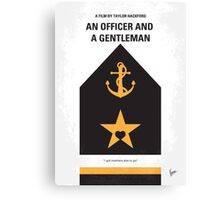 No388 My An Officer and a Gentleman minimal movie poster Canvas Print