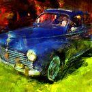The Blue Car by jean-louis bouzou