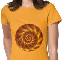 Beautiful Golden Orange Shell Spiral Fractal Womens Fitted T-Shirt