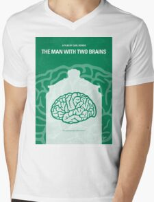 No390 My The Man With Two Brains minimal movie poster Mens V-Neck T-Shirt