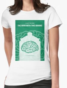 No390 My The Man With Two Brains minimal movie poster Womens Fitted T-Shirt