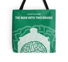 No390 My The Man With Two Brains minimal movie poster Tote Bag