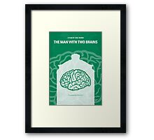 No390 My The Man With Two Brains minimal movie poster Framed Print