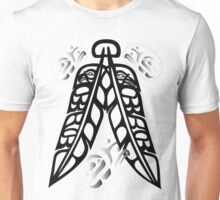 Eagle & Raven Feathers with Eagle Ovoids in Black & White Unisex T-Shirt