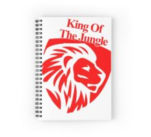 KING of The Jungle! Spiral Notebook