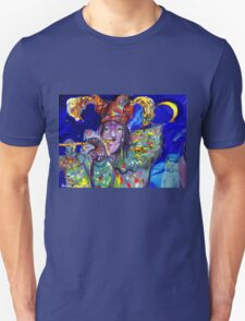 FLUTIST IN BLUE / Venetian Carnival Night T-Shirt