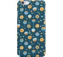 Flowers in navy blue iPhone Case/Skin