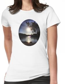 Sunrise on the River Glint Womens Fitted T-Shirt