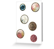 Alice in Wonderland buttons Greeting Card