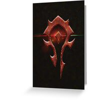 Horde Metal Logo Greeting Card