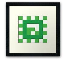 Green Block of Weight Framed Print