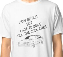 Gift for your Dad - cool Audi outline and text Classic T-Shirt