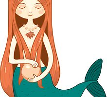 Mermaid holding a pearl by Tinly