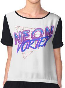Neon Vortex Logo Chiffon Top