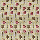 Rose gold eat me, drink me pattern by peggieprints