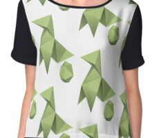 Mom/Dad Paper Bird - Origami Chiffon Top