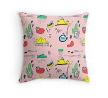 Cactus Mountain Throw Pillow