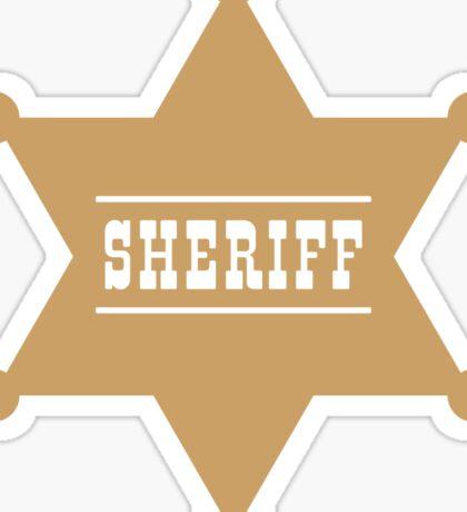 Sheriff's Star Sticker